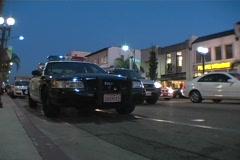 L.A.P.D. Squad Car Stock Footage