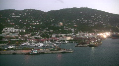 Scenery from St Thomas USVI Stock Footage