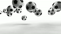 Soccer 2008 sign on white  Stock Footage