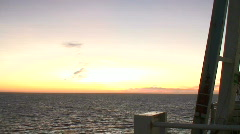 View from the deck of cruise ship at sunrise 3 Stock Footage