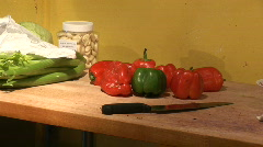 Food-Peppers-Still Stock Footage