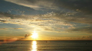 HD time lapse clip, sunset over the atlantic ocean... Stock Footage