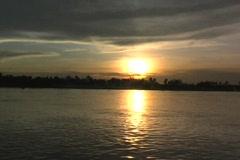 Sunset on the Rufiji River Stock Footage
