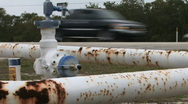 Rusty Gas Pipe 01 Stock Footage