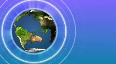 Seamless rotating Earth Globe, 1080HD. Loopable, Version 2. - stock footage