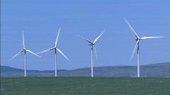 4 Wind Turbines MED Stock Footage