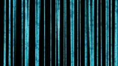 Blue metal grunge vertical bars - digital animation Stock Footage