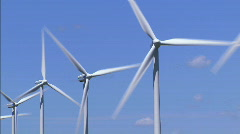 Wind Turbines MED 2 Stock Footage
