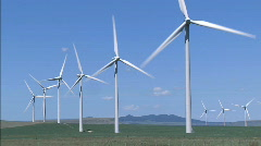 Wind Turbines WS 1 - stock footage