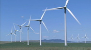 Stock Video Footage of Wind Turbines WS 1