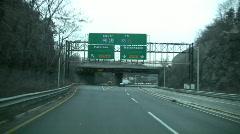 Express lane off George Washington Bridge Stock Footage
