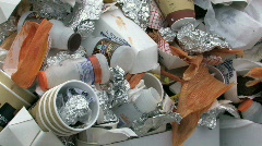 Garbage can over flow close HD Stock Footage