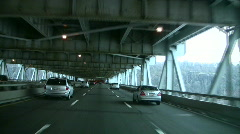 Stock Video Footage of Lower level of George Washington Bridge