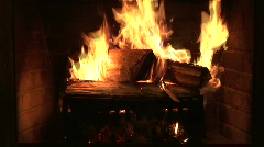 Building a a new fire in a fire place Stock Footage