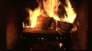 Stock Video Footage of building a a new fire in a fire place
