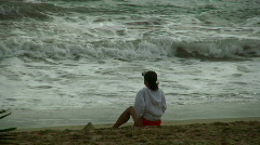 Quiet time by the shore Stock Footage