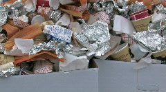 Garbage can over flow 30p HD Stock Footage