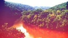 Red river (g filter) (surreal artistic2) Stock Footage