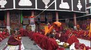 Stock Video Footage of Buddhist monks getting ready for ceremony inside Jokhang Temple Tibet