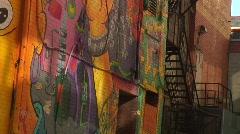Jm250-Building Art Mural Stock Footage