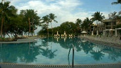 Beautiful pool in the early morning on the Big Island  Stock Footage