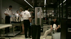 Security San Francisco airport Stock Footage