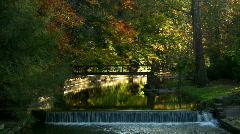 Autumn day start of the season at sunset part one Stock Footage