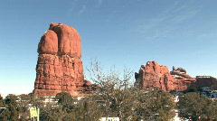 Balance Rock landscape pan HD Stock Footage