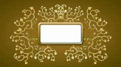 Retro vector style golden roots framing Stock Footage