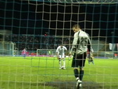 Stock Video Footage of penalty kick in the soccer (football) game