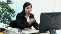 Help desk girl 1 Stock Footage