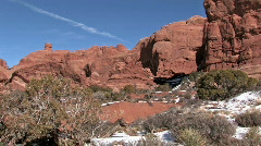 Arches NP Double Arch pan left HD Stock Footage
