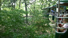 Zoo monorail Stock Footage