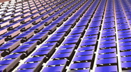 Solar panels( fly over1) Stock Footage