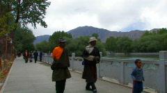 Dzongyab Lukhang/Naga King Park, Tibet Stock Footage