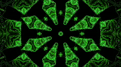 Kaleidoscopic green star Stock Footage
