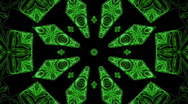 Stock Video Footage of Kaleidoscopic green star