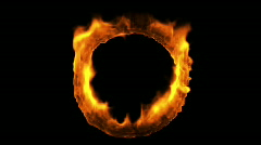Ring of Fire, Alpha-1080p Stock Footage