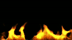 Fire Bottom + alpha 1080p Stock Footage