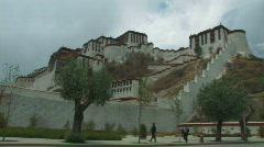 Outside Potala in Lhasa, Tibet Stock Footage
