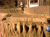 Stock Video Footage of Huge Motocross Ruts