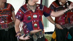 Tribal belly dance part 1 Stock Footage
