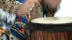 Closer view man playing drum Stock Footage