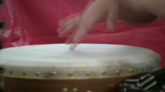 Child plays drums Stock Footage