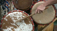 Drum playing with sticks and hands Stock Footage