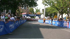 Local bike race  Stock Footage