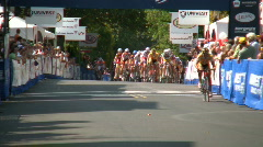 Local bike race start Stock Footage
