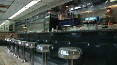 American diner Stock Footage