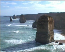 Great Ocean Road - Twelve Apostles (3 scenes) Stock Footage