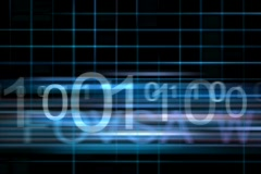 computer network with binary code on an alpha channel - stock footage